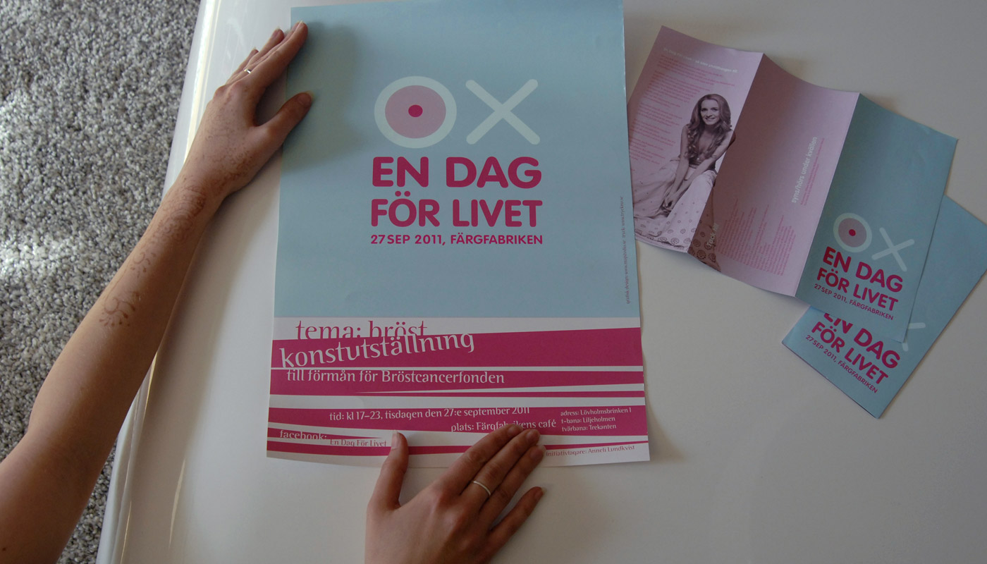 En Dag For Livet, branding of the breast cancer exhibition: A day for Life